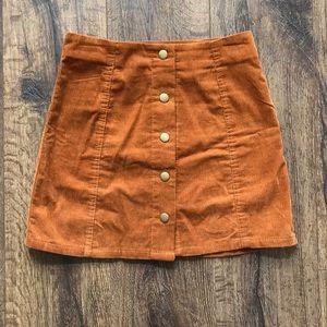 Topshop mini skirt.